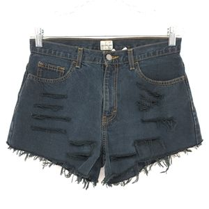 Calvin Klein High Rise Distressed Destroyed Shorts